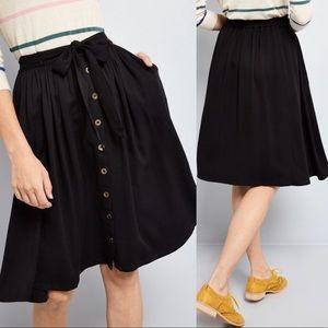 Modcloth   Skirt Dreamer And Doer Pockets Belt